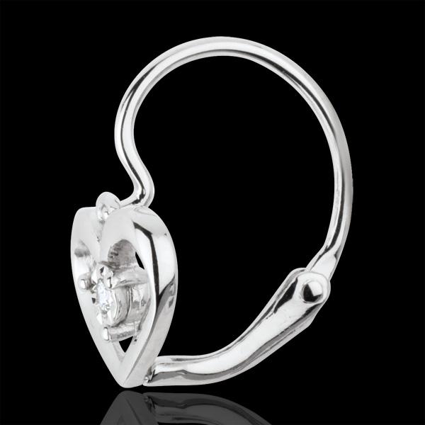 Pendientes Mi Amor - oro blanco 9 quilates y diamantes