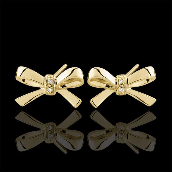 Pendientes Nudos Carlota - oro amarillo 9 quilates