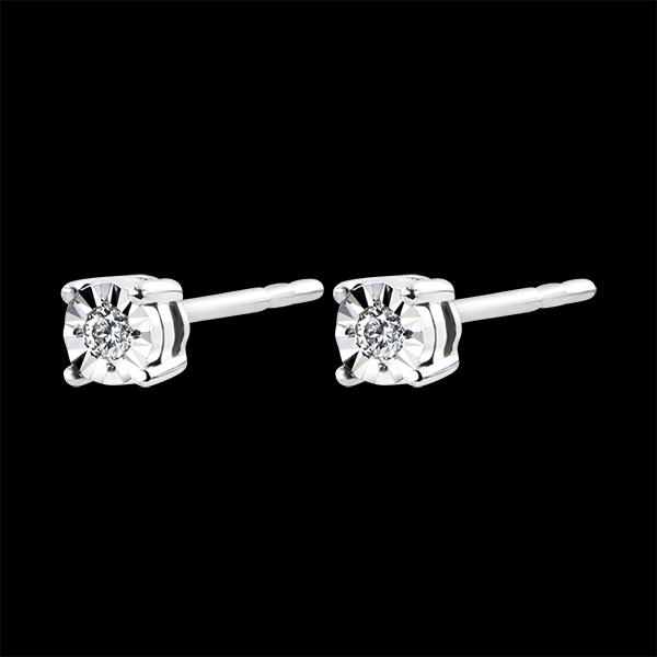 Pendientes Origen - oro blanco de 18 quilates y diamantes