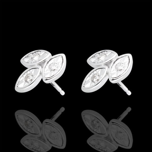 Pendientes Ramilletes de diamantes - oro blanco 18 quilates