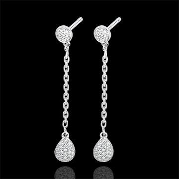 Pendientes Rhea - oro blanco 18 quilates y diamantes