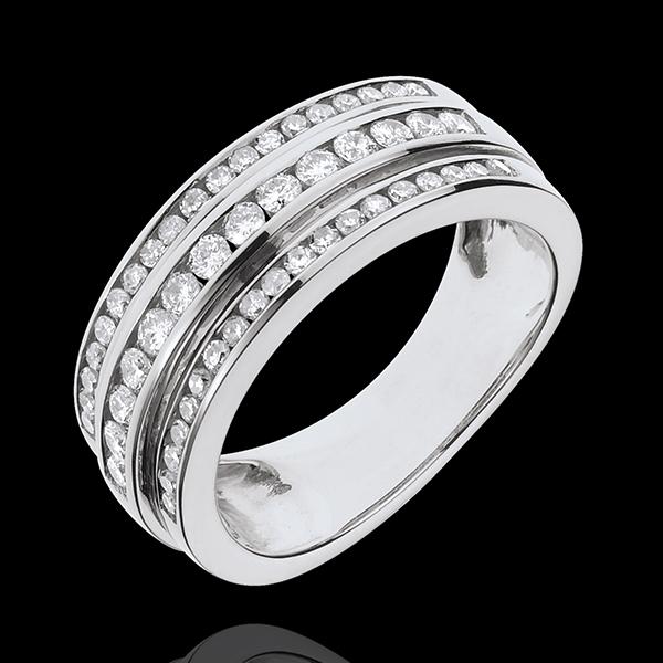 Pierścionek Feeria - Droga Mleczna - 0,63 karata - 52 diamenty - złoto białe 18-karatowe