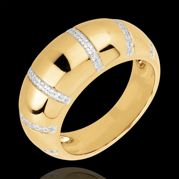 Pierścionek Gaya z żółtego złota 18-karatowego wysadzany diamentami