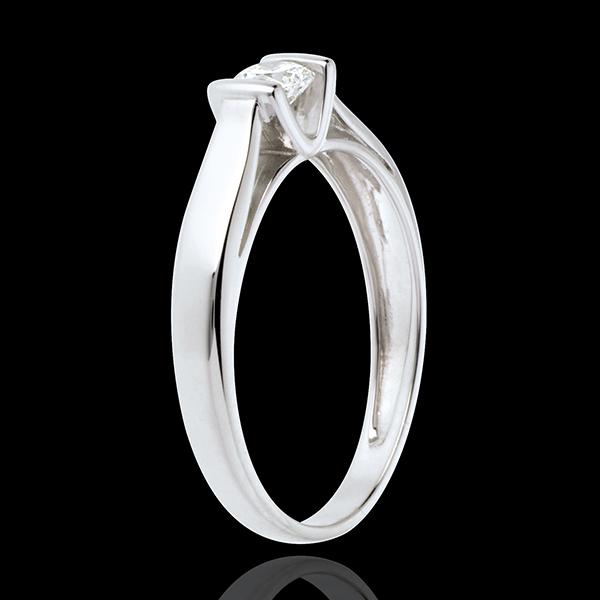 Pierścionek Kaldera z białego złota 18-karatowego z jednym diamentem - 0,24 karata