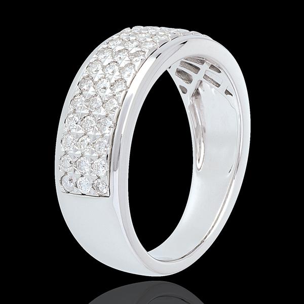 Pierścionek Konstelacja - Gwiazd - mały model - złoto białe 18-karatowe wysadzane diamentami - 0,63 karata - 45 diamentów