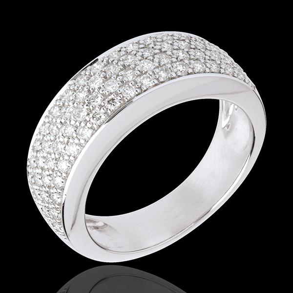 Pierścionek Konstelacja - Gwiazd wariacja - złoto białe 18-karatowe wysadzane diamentami - 0,72 karata
