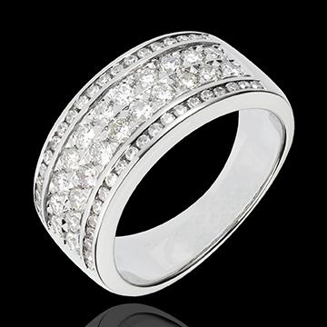 Pierścionek Konstelacja - Kosmos - 62 diamenty - złoto białe 18-karatowe