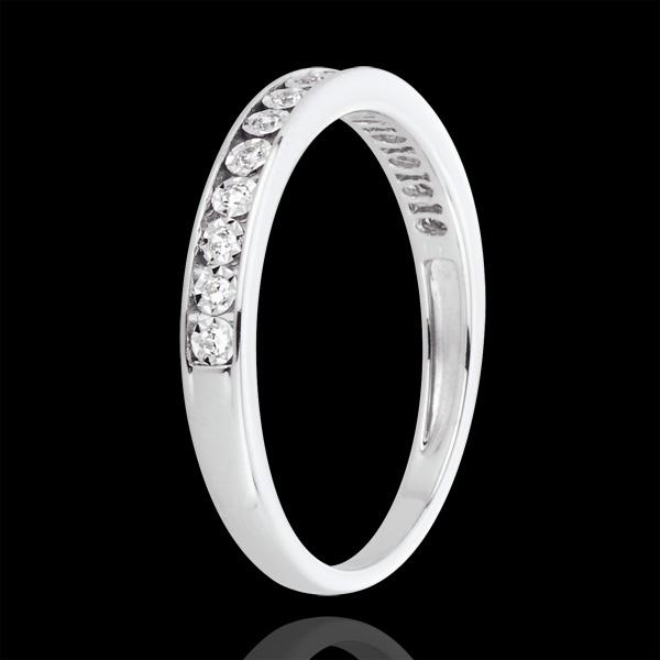 Pierścionek Magiczne Oprawy z białego złota 18-karatowego i diamentów