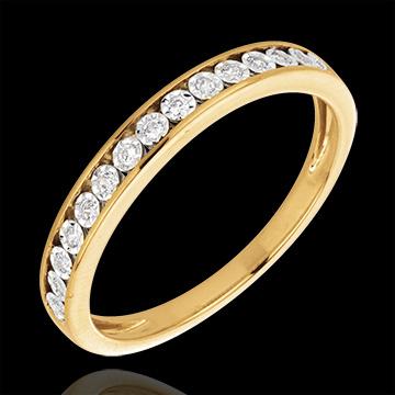 Pierścionek Magiczne Oprawy z żółtego złota 18-karatowego i diamentów