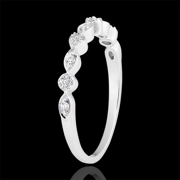 Pierścionek Mała Kolia - białe złoto 9-karatowe wysadzane diamentami
