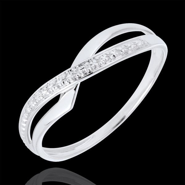 Pierścionek Marina z białego złota 9-karatowego z diamentem
