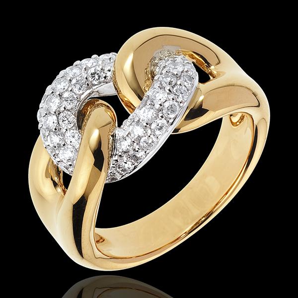Pierścionek Nieskończona Więź z żółtego złota 18-karatowego