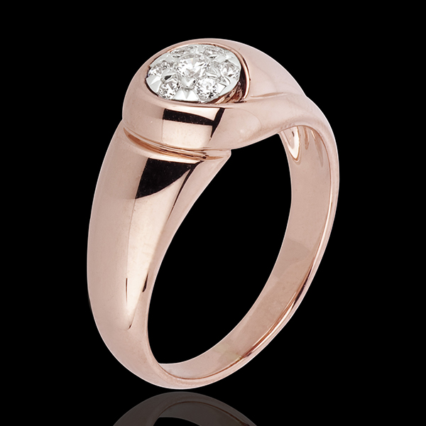 Pierścionek Nieskończoność - Pąk - złoto różowe 18-karatowe