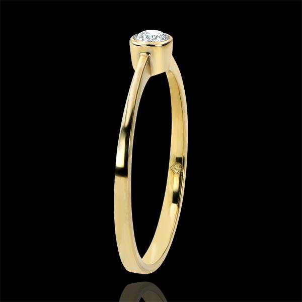 Pierścionek Pochodzenie z jednym diamentem – Niewinność – żółte złoto 9-karatowe z diamentami