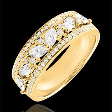 Pierścionek Przeznaczenie - Bizantyjskie - złoto żółte 18-karatowe i diamenty