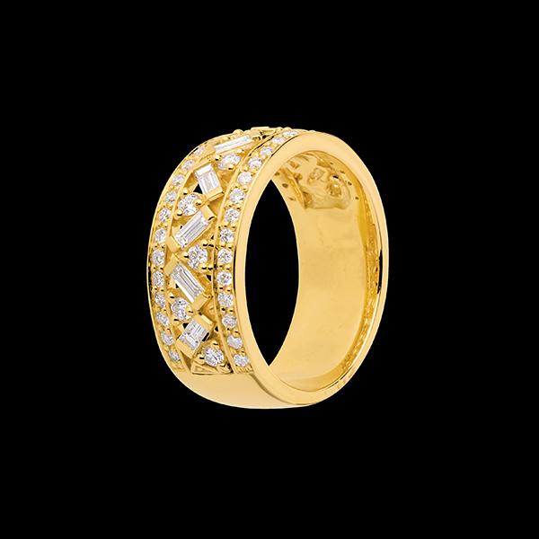 Pierścionek Przeznaczenie - Cesarzowa - z żółtego złota 18-karatowego z diamentami - 0,85 karata
