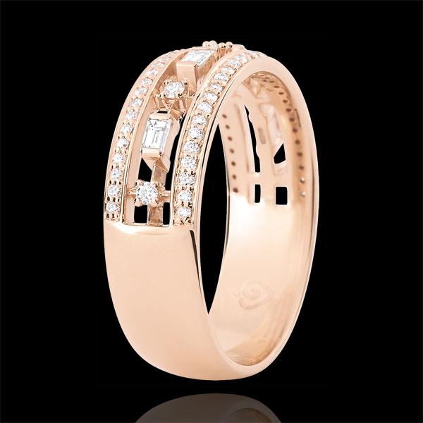 Pierścionek Przeznaczenie - Cesarzówna - 71 diamentów - złoto różowe 9-karatowe