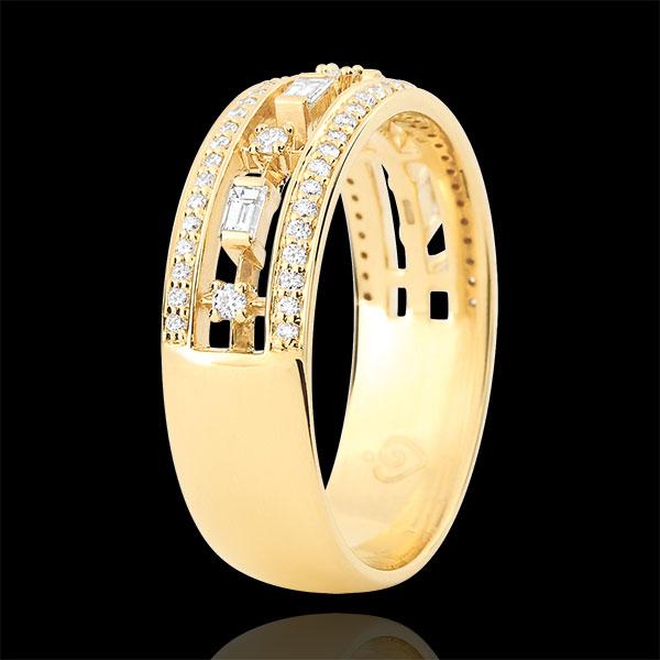 Pierścionek Przeznaczenie - Cesarzówna - 71 diamentów - złoto żółte 9-karatowe