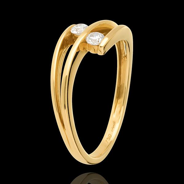 Pierścionek Ty i Ja - złoto żółte 18-karatowe