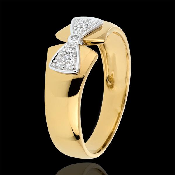 Pierścionek węzeł Amelia z żółtego złota 9-karatowego