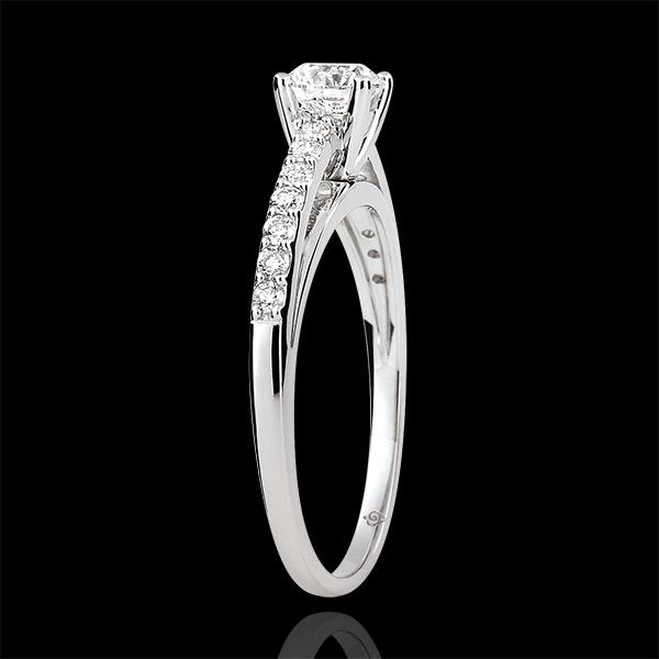 Pierścionek zaręczynowy - Avalon - diament 0,4 karata - złoto białe 18-karatowe