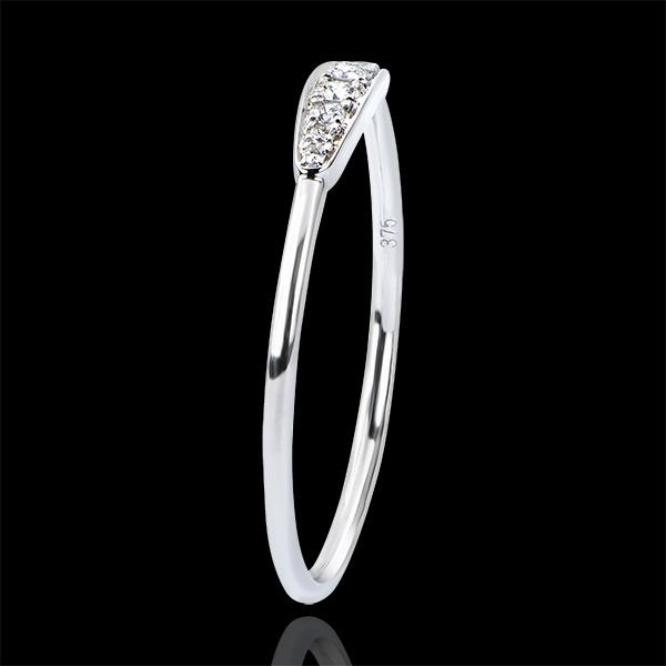 Pierścionek zaręczynowy Obfitość – Harmonia – białe złoto 9-karatowe z diamentami