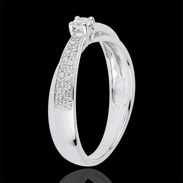 Pierścionek zaręczynowy Przeznaczenie - Diaphane - diament 0,1 karata - złoto białe 18-karatowe