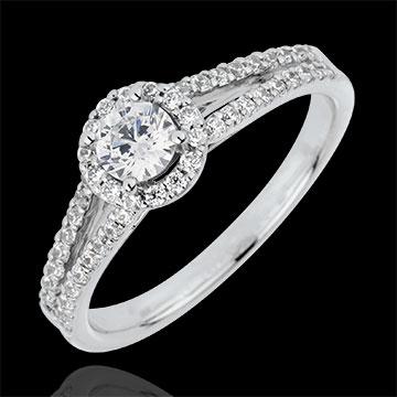 Pierścionek zaręczynowy Przeznaczenie - Józefina - diament 0,3 karata - złoto białe 18-karatowe