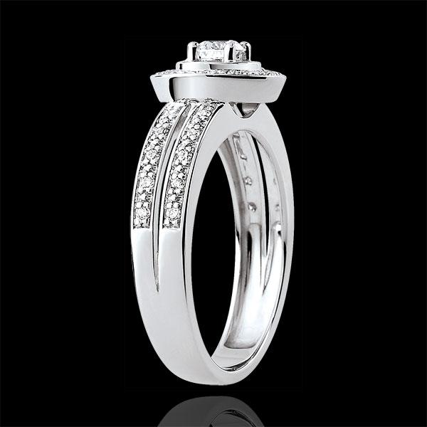 Pierścionek zaręczynowy Przeznaczenie - Lady - diament 0,16 karata - złoto białe 18-karatowe