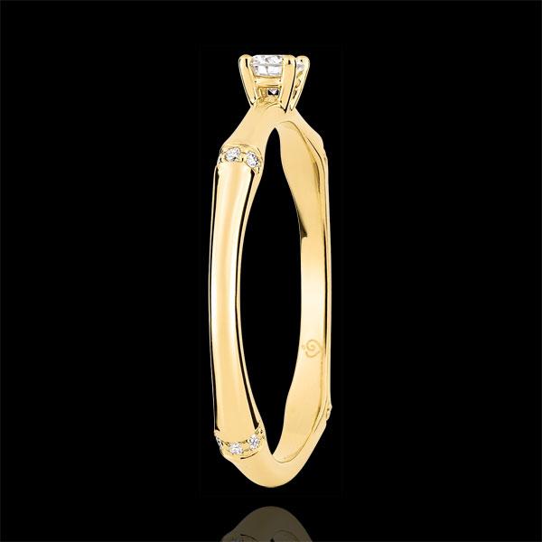 Pierścionek zaręczynowy Święta Dżungla - diament 0,09 karata - złoto żółte 18-karatowe