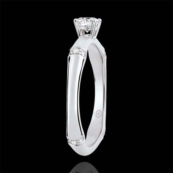 Pierścionek zaręczynowy Święta Dżungla - diament 0,2 karata - złoto białe 18-karatowe