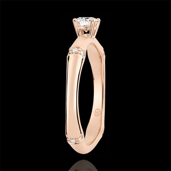 Pierścionek zaręczynowy Święta Dżungla - diament 0,2 karata - złoto różowe 18-karatowe