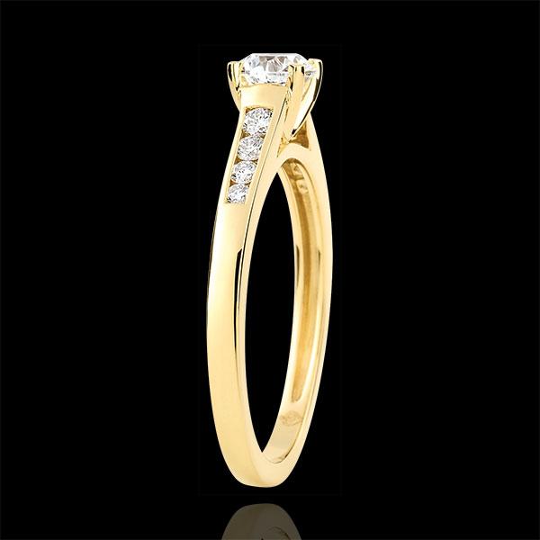 Pierścionek zaręczynowy Wzniosłość z jednym diamentem - diament 0,4 karata - złoto żółte 18-karatowe