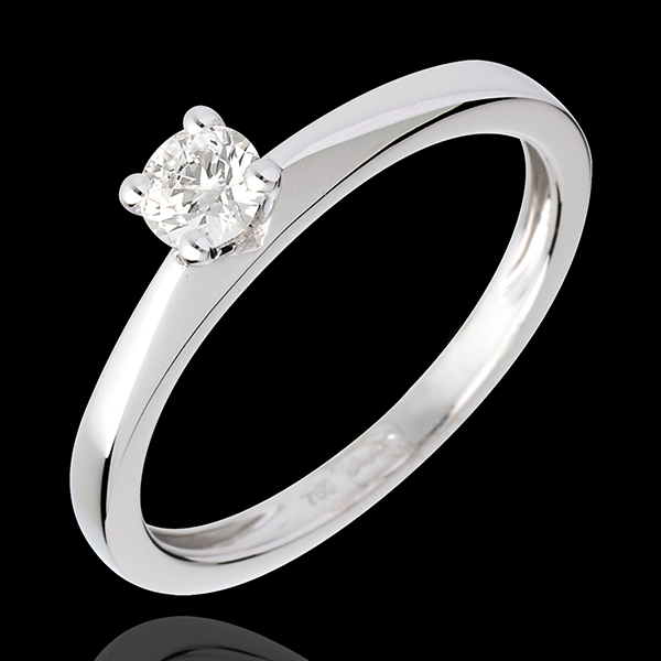 Poesia Solitaire Ring - White gold - 0.26 carat
