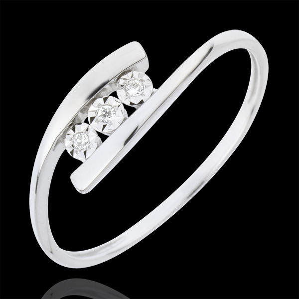 Precious Nest Ring - Trillusion - white gold - 18 carats