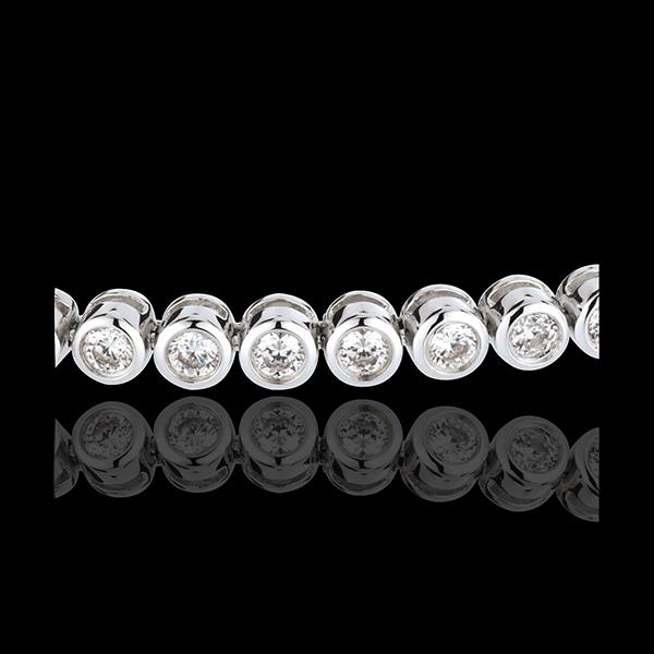 Pulsera ábaco diamantes - oro blanco - 2 quilates - 52 diamantes