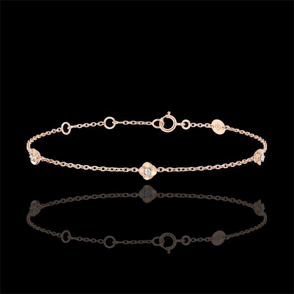 Pulsera Eclosion - Corona de Rosas - oro rosa 18 quilates y diamantes