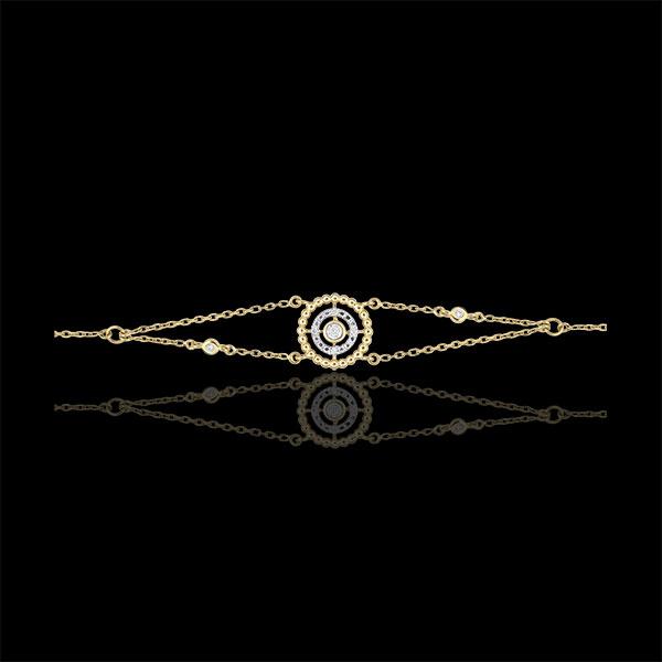 Pulsera Flor de Sal - círculo - oro amarillo 18 quilates y diamantes
