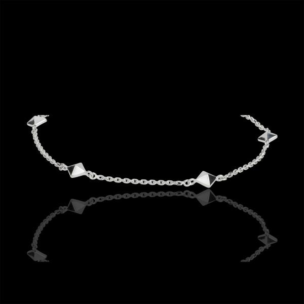 Pulsera Génesis - Diamantes Brutos - oro blanco 18 quilates