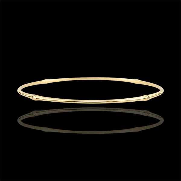 Pulsera Jonc Jungla Sagrada - diamantes - oro amarillo 9 quilates