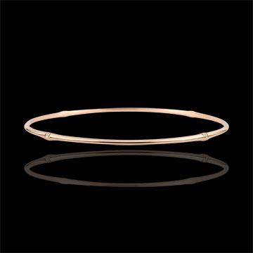Pulsera Jonc Jungla Sagrada - diamantes - oro rosa de 9 quilates