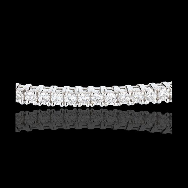 Pulsera junco oro blanco semi empedrado - 1 quilates - 37 diamantes