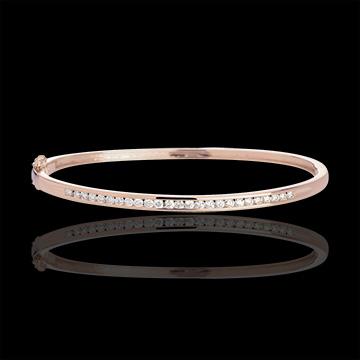 Pulsera junco pasador oro rosa - 0.75 quilates - 25 diamantes