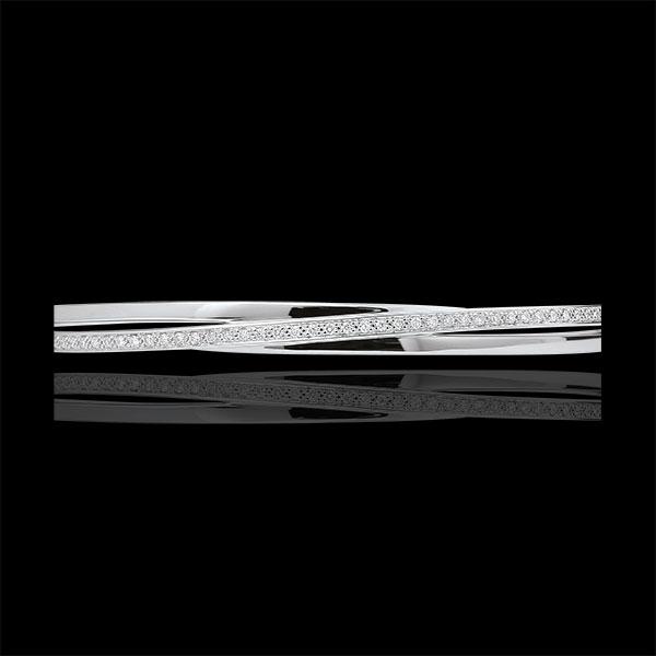 Pulsera Junco Saturno Diamante - oro blanco 9 quilates