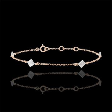 Pulsera Génesis - Diamantes Brutos - oro blanco y oro rosa 9 quilates