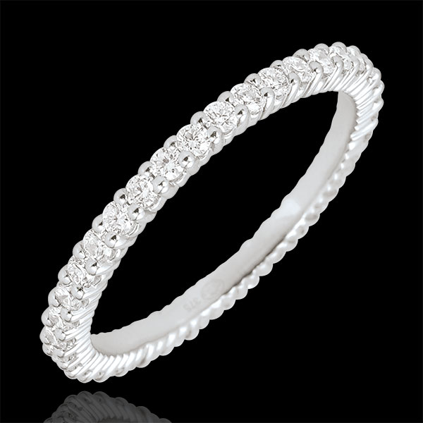 Radiant Pink Gold Wedding Band with 37 diamonds - 0.57 carat - 18 carats