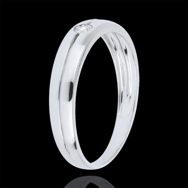 Real Eden Ring 18 karaat witgoud met Diamant - 0.022 karaat