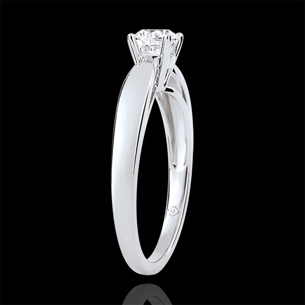 Reed Solitaire - 0.4 carat diamond- white gold 9 carats