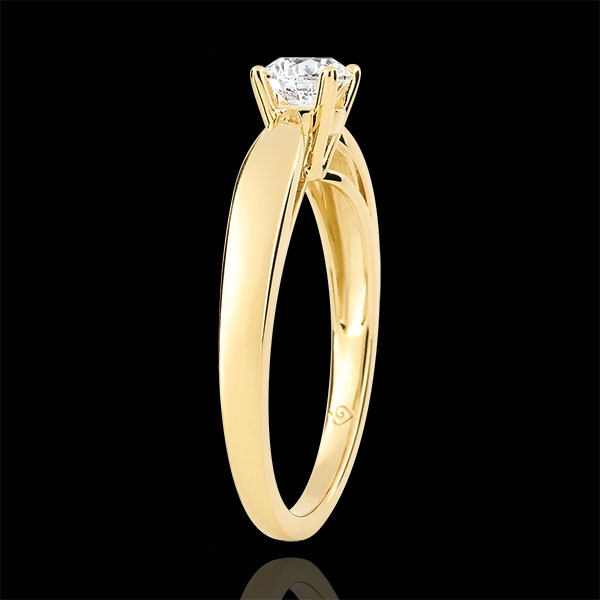 Reed Solitaire - 0.4 carat diamonds - yellow gold 9 carats