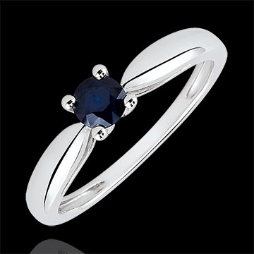 Reed Solitaire Engagement Ring - 0.35 carat sapphire - white gold 18 carats